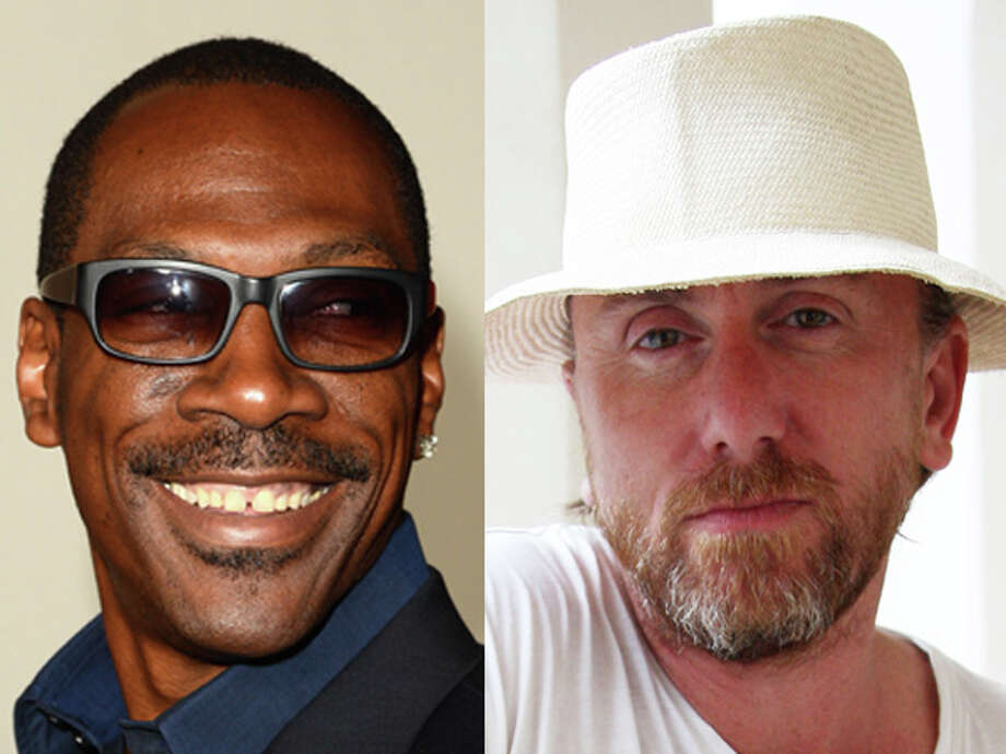 "Comedian Eddie Murphy hasn't changed a bit since ""Pluto Nash"" while there's no mistaking the gray in ""Pulp Fiction"" star Tim Roth's beard. Both were born in 1961. Photo: Wire"