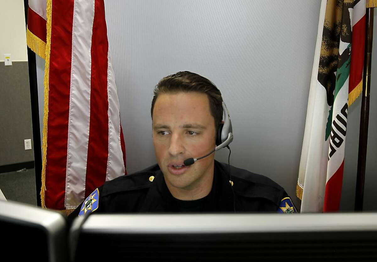 Officer Steve Barker sees a real need for the video-text chat, believed to be the first in the country.