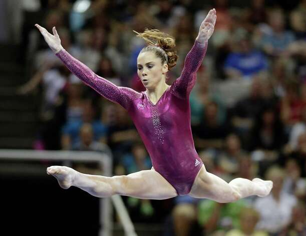 McKayla Maroney performs in the floor exercise event 147during the final round of the women's Olympic gymnastics trials, Sunday, July 1, 2012, in San Jose, Calif. Maroney was named to the U.S. Olympic gymnastics team.  (AP Photo/Jae C. Hong) Photo: Jae C. Hong, Associated Press / AP
