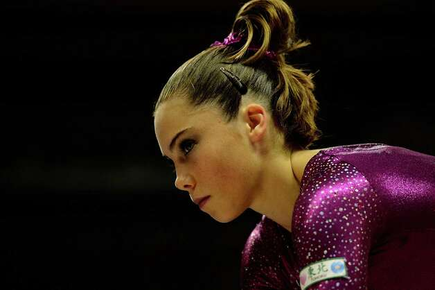 SAN JOSE, CA - JULY 01:  McKayla Maroney during practice before the start of day 4 of the 2012 U.S. Olympic Gymnastics Team Trials at HP Pavilion on July 1, 2012 in San Jose, California.  (Photo by Ronald Martinez/Getty Images) Photo: Ronald Martinez, Getty Images / 2012 Getty Images