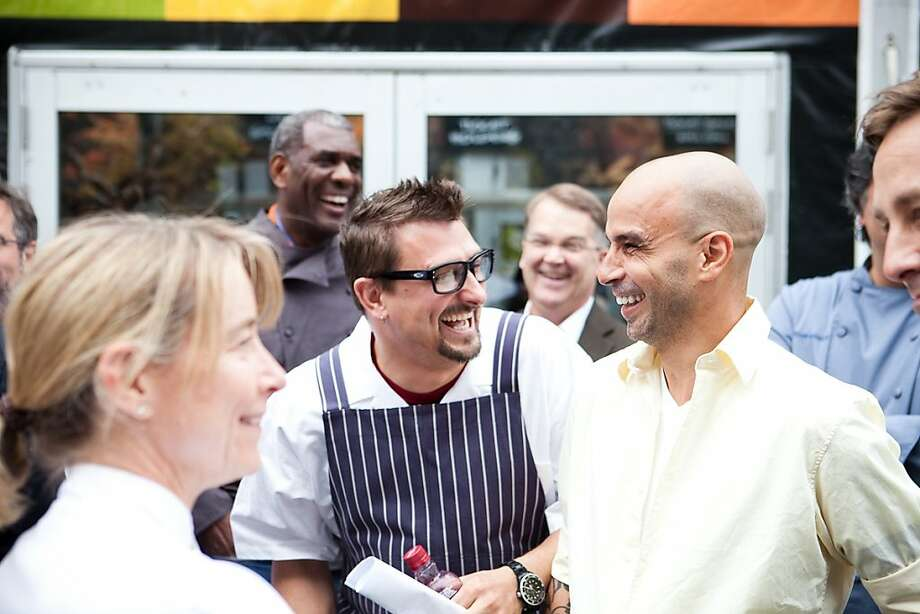 Chris Cosentino and Mourad Lahlou are seen at SF Chefs 2011. Photo: Robin Jolin, SF Chefs
