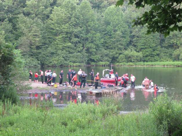 A 10-year-old girl was pulled from Lake Mohegan after she was underwater for about 45 minutes, Fairfield, Conn. police said on Tuesday, July 17, 2012. Photo: Tom Cleary
