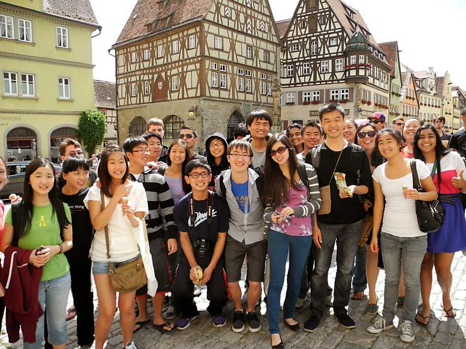 The San Francisco Symphony Youth Orchestra is seen in Rothenburg, one of the most picturesque and well preserved villages in Germany.
