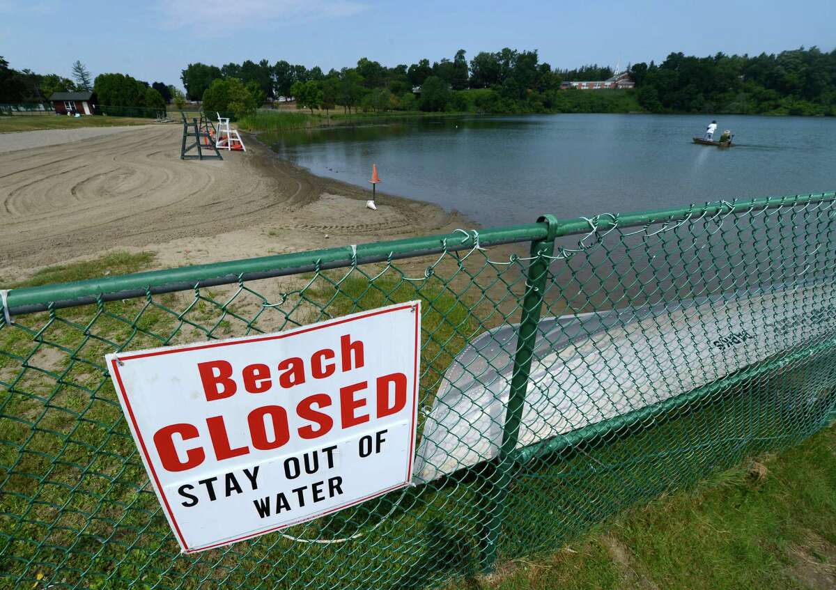 Collins Lake in Scotia, N.Y. is still closed to swimmers due to the after effects of Hurricane Irene July 17, 2012. (Skip Dickstein/Times Union)