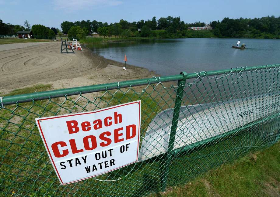 Collins Lake in Scotia, N.Y. is still closed to swimmers due to the after effects of Hurricane Irene July 17, 2012. (Skip Dickstein/Times Union) Photo: Skip Dickstein / 00018490A