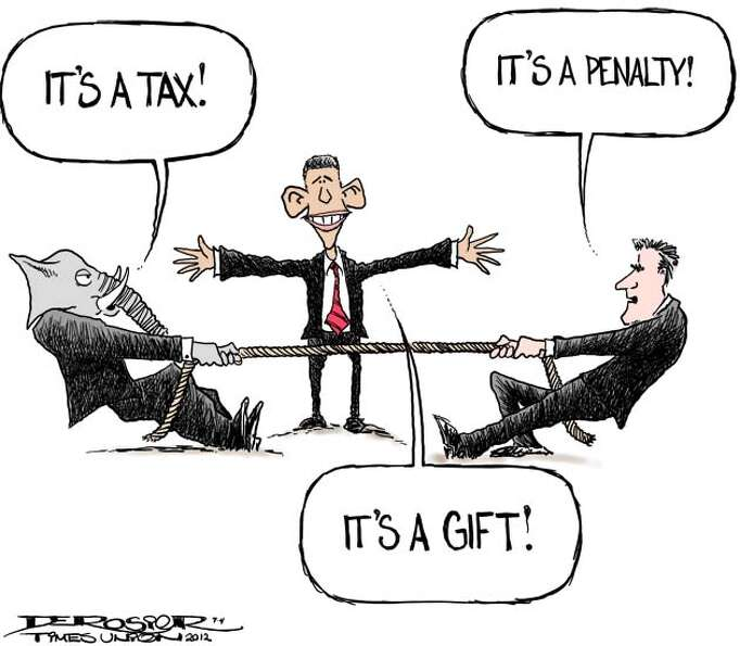 Romney and Republicans come to different conclusions on ACA penalty/tax.