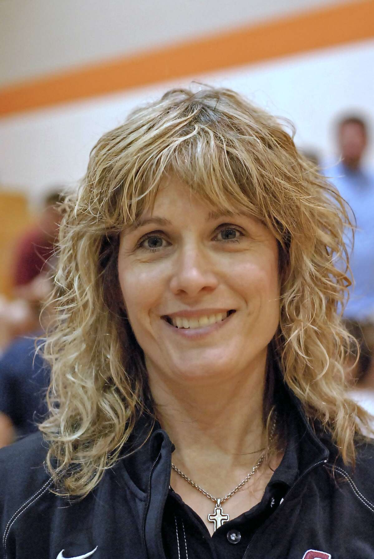 Cinco Ranch volleyball head coach Tammy Laurence