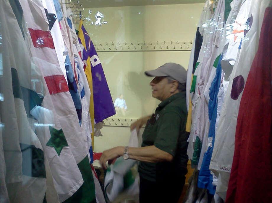 The jockey silks are ready for the Saratoga meet. (Dennis Yusko/Times Union)