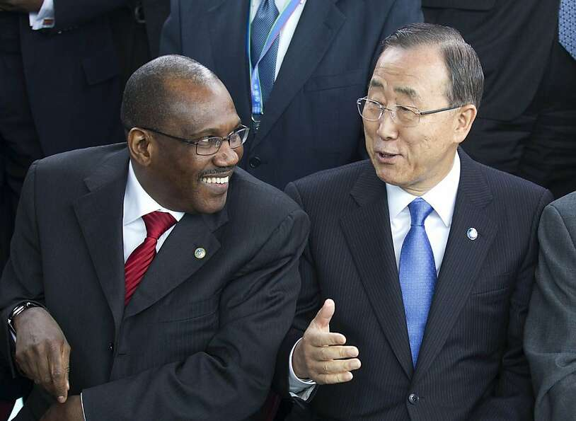 Hamadoun Toure, with Secretary General Ban Ki-moon in April, heads a U.N. panel looking at complaint