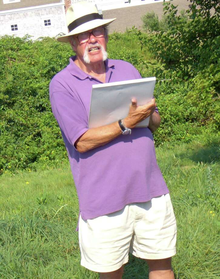"Author-illustrator Jim Stevenson, of Cos Cob, spends his summers on Block Island and recently authored a book about his getaway, ""The Dawn of the Sea Monster - and Other Wonders of Block Island."" Photo: Contributed Photo"