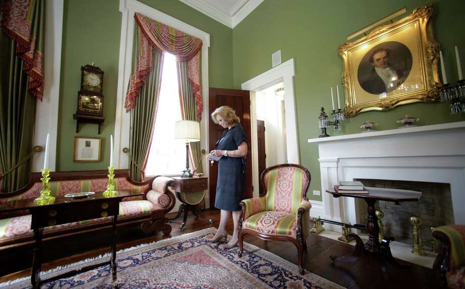 Texas First Lady Anita Perry gives a tour of the Texas Governor's Mansion Wednesday, July 18, 2012, in Austin, Texas. After four years and a $25 million restoration project, the historic Texas Governor's Mansion that was nearly destroyed by fire is complete. (AP Photo/Eric Gay) Photo: Eric Gay, Associated Press / AP
