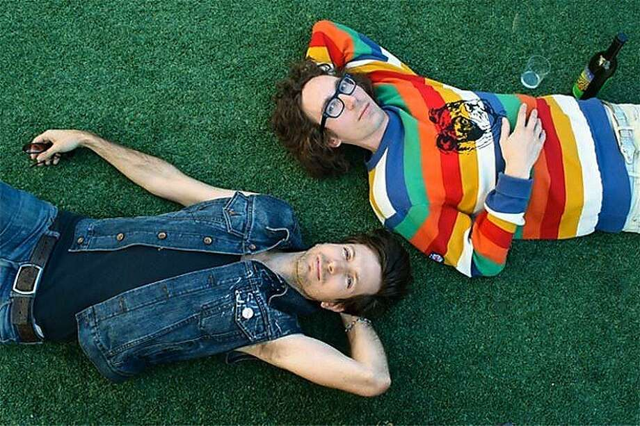 Filip Nikolic and Jeffrey Paradise of the electronic duo Poolside. Photo: Echo Park Records