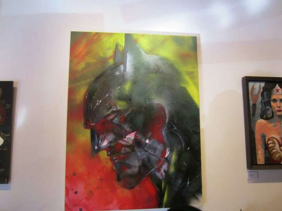 "Jim Lee, one of most respected artists in comics, tackles Batman in this painting and the popular comic story arch, ""Hush.""  Photo: For The Chronicle"