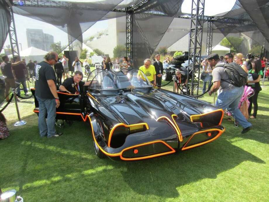 "The original Batmobile was on display at San Diego. Adam West's campy ""Batman"" series from the 1960s is a far cry from the darker, grittier tone in comics and film.  Photo: For The Chronicle"