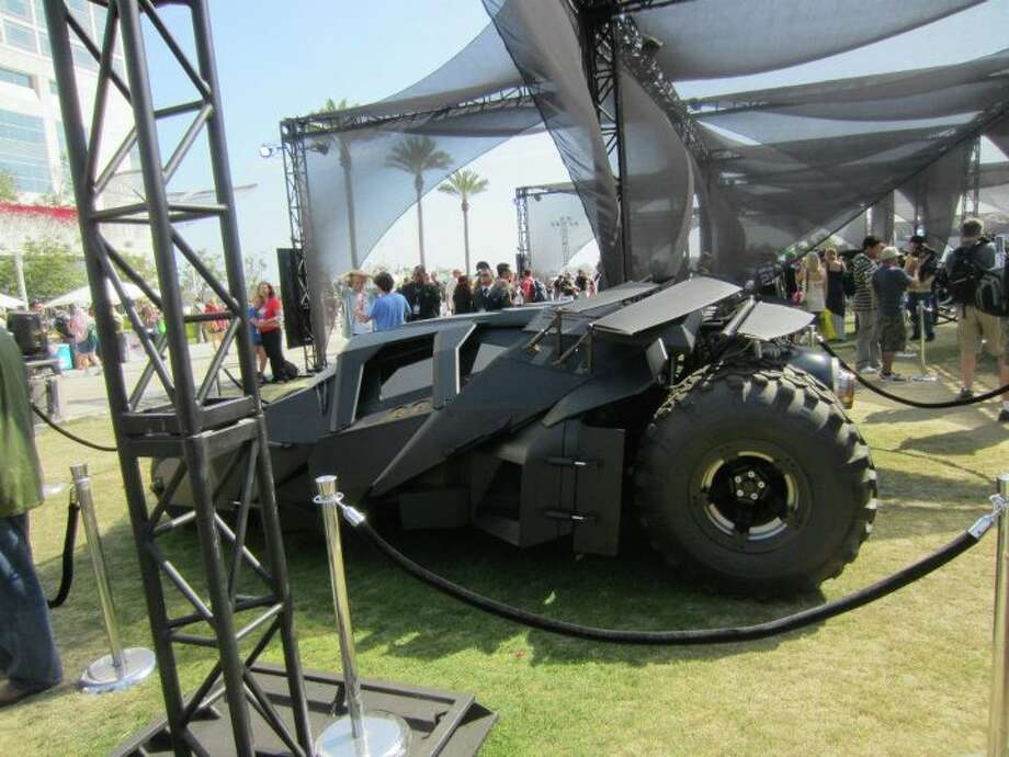"The tumbler from ""The Dark Knight Rises"", which opens July 20. Christopher Nolan's third film of the trilogy is one of the most-anticipated releases of the summer.  Photo: For The Chronicle"