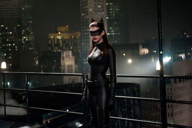 "Anne Hathaway as Selina Kyle in Warner Bros. Pictures' and Legendary Pictures' action thriller ""The Dark Knight,"" a Warner Bros. Pictures release.  Photo: Ron Phillips, Warner Bros."