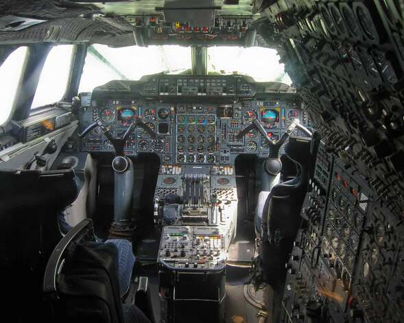 The flight deck of Concorde Fox Chalie is shown at the Aeroscopia site, at Blagnac, France, Airport. Photo: Aerospatiale/Aeroscopia