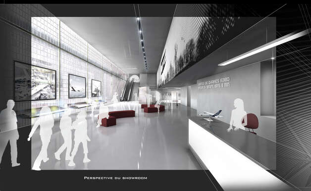 Aeroscopia's planned lobby is shown in this artist's depiction. Photo: Aeroscopia