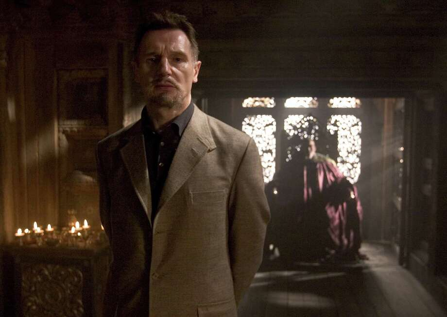 "Liam Neeson as Ra's Al Ghul in ""Batman Begins."" Photo: David James, Warner Bros. Pictures / handout"