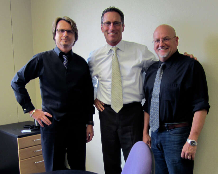 Three executive team members, seen Tuesday July 17, 2012, for Black Pearl Intelligence, a new marketing firm in San Antonio, are, from left to right, Chief Creative Officer Kevin LaRue, Chief Executive Officer Kevin Bove and Chief Operations Officer Mike Connor. Black Pearl was formed by the merger of longtime San Antonio advertising agency Creative Link and a Florida-based consumer intelligence firm named Black Pearl Intelligence. Photo: William M. Pack, San Antonio Express-News / San Antonio Express-News