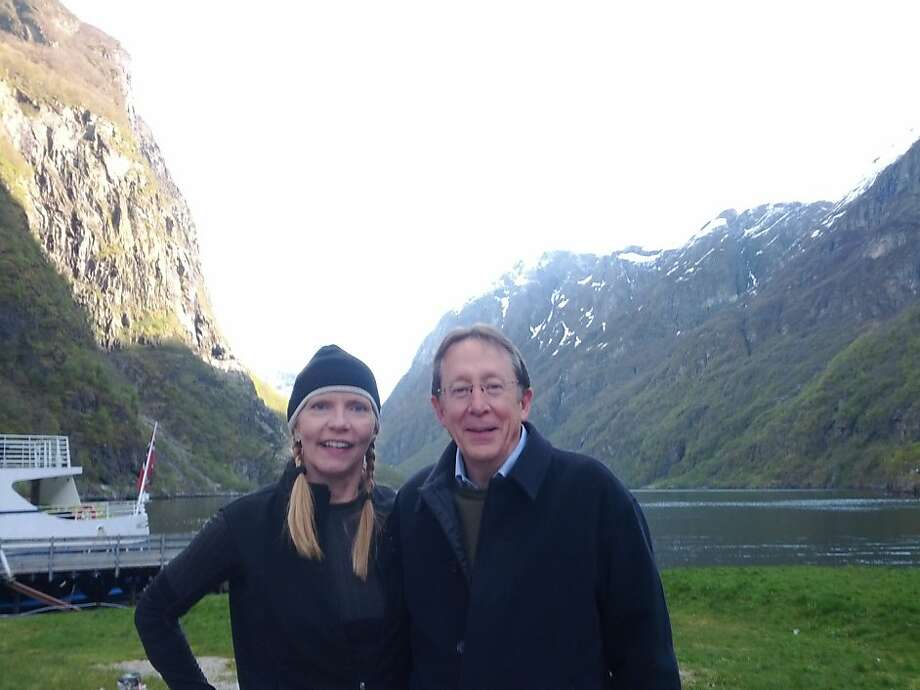 Nancy and Tom Gille of San Francisco in Gudvangen, Norway Photo: Courtesy Nancy Gille