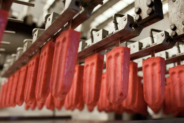 The fruit pops are produced at Blue Bell Creamery, July 5, 2012 in Brenham, TX. Photo: Eric Kayne / © 2012 Eric Kayne