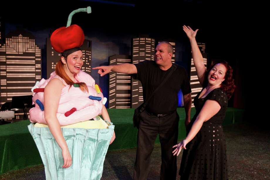 "Ivy Castle, from left, Greg Dean and Tamarie Cooper star in ""Tamarie Cooper's Doomsday Revue"" at the Catastrophic Theatre at DiverseWorks. Photo: Cody Duty / © 2011 Houston Chronicle"