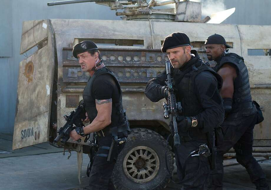 "Sylverster Stallone, Jason Statham and Terry Crews star in ""The Expendables 2."" Photo: Lionsgate"