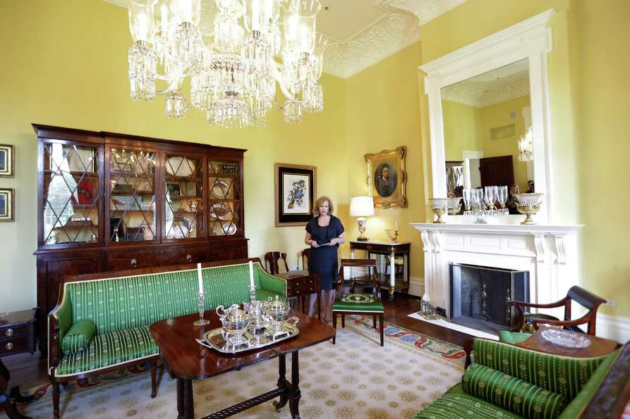Texas First Lady Anita Perry gives a tour of the Texas Governor's Mansion Wednesday, July 18, 2012,
