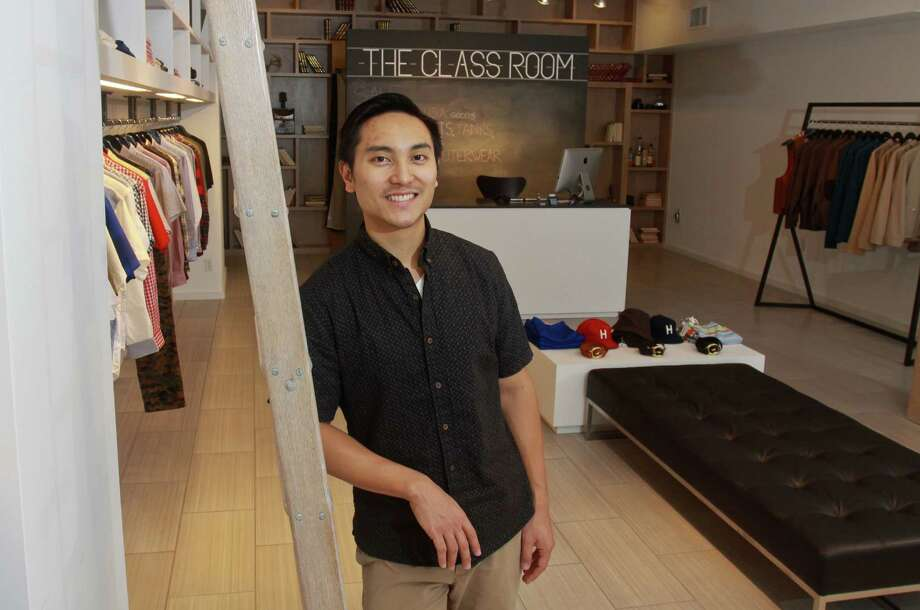 (For the Chronicle/Gary Fountain, July 3, 2012)  Owner Joh Caballero of the Class Room Menswear Boutique at 2534 Amherst St. in Rice Village. Photo: Gary Fountain / Copyright 2012 Gary Fountain.
