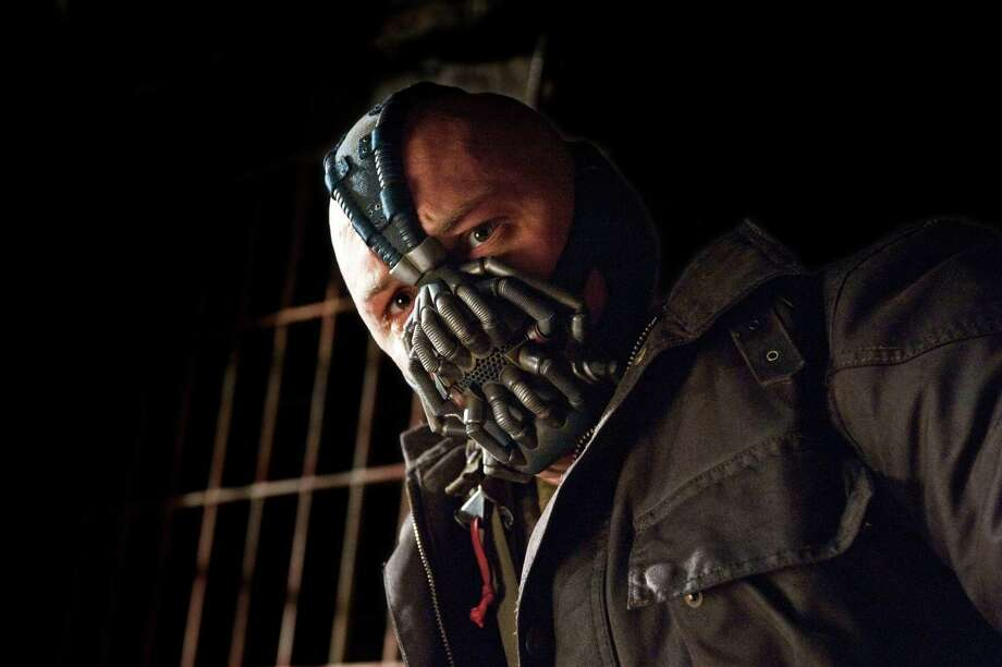 Bane. This comic book villain came to life in the most recent Batman movie. Super-strong and super-smart, this criminal is definitely the bane of Batman's existence. Photo: Ron Phillips / © 2012 WARNER BROS. ENTERTAINMENT INC. AND LEGENDARY PICTURES FUNDING, LLC