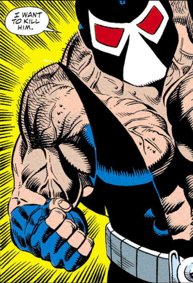 "Bane in a panel from ""Batman: Vengeance of Bane"" No. 1, the DC comic that features the first appearance of the character."