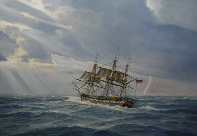 "Paul Garnett's ""North Atlantic Gale, USS Constitution"" will be included in ""The War of 1812 at Sea"" exhibit at the Fairfield Museum. Photo: Contributed Photo"