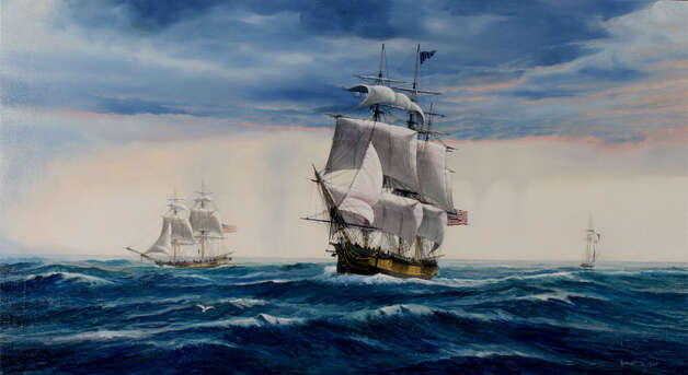 "Paul Garnett's ""Destination Tripoli: Argus, USS Constitution, Vixen"" will be included in ""The War of 1812 at Sea"" exhibit at the Fairfield Museum. Photo: Contributed Photo"