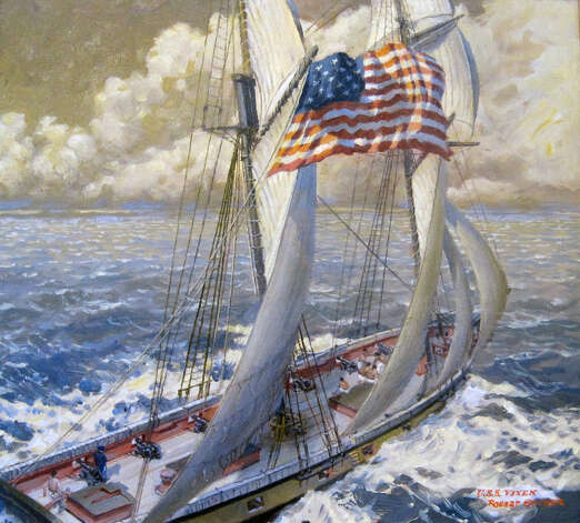 "Robert Sticker's ""USS Vixen"" will be included in ""The War of 1812 at Sea"" exhibit at the Fairfield Museum. Photo: Contributed Photo"
