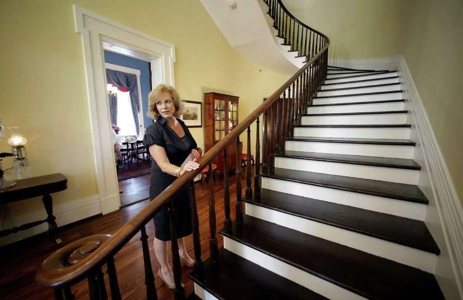 Texas first lady Anita Perry gives a tour of the Texas Governor's Mansion in Austin. The mansion reopened after renovations and repairs resulting from a fire in 2008. Photo: Rodolfo Gonzalez, Austin American-Statesman