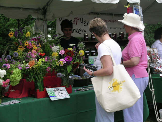 Old Lyme's Midsummer Festival, an outdoor event throughout town on Saturday, July 28, includes a Market En Plein Air at the Florence Griswold Museum. Photo: Contributed Photo