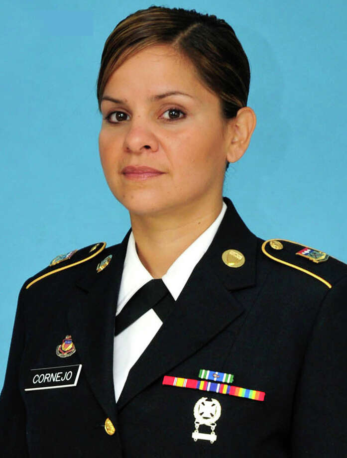 Colorado Army National Guard 2nd Lt. Christina Cornejo, ex-girlfriend of Brian Heglin, is seen in an undated photo provided by the Colorado National Guard. Heglin, a SkyWest Airlines pilot suspected of killing Cornejo, stole an empty 50-passenger jet Tuesday, July 17, 2012 from a small Utah airport, crashed it as he drove near a terminal, then was found dead with a self-inflicted gunshot wound, officials said. Police found the body of Cornejo, 39, on July 13 in Colorado Springs, Colo. Authorities say she had been stabbed multiple times.  (AP Photo/Colorado National Guard ) / Colorado National Guard