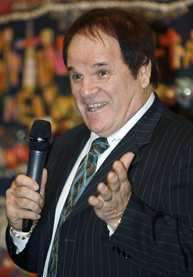 FILE - This May 14, 2011 file photo shows former Major League Baseball great Pete Rose speaking at the Ohio Justice & Policy Center's inaugural gala at the National Underground Railroad Freedom Center, in Cincinnati. Rose is taking a swing at his own reality TV show. Cable's TLC network says it has started production on an unscripted series to chronicle the lives of baseball's all-time hitting leader and his fiancee, model Kiana Kim.  (AP Photo/David Kohl, File) Photo: David Kohl, Associated Press