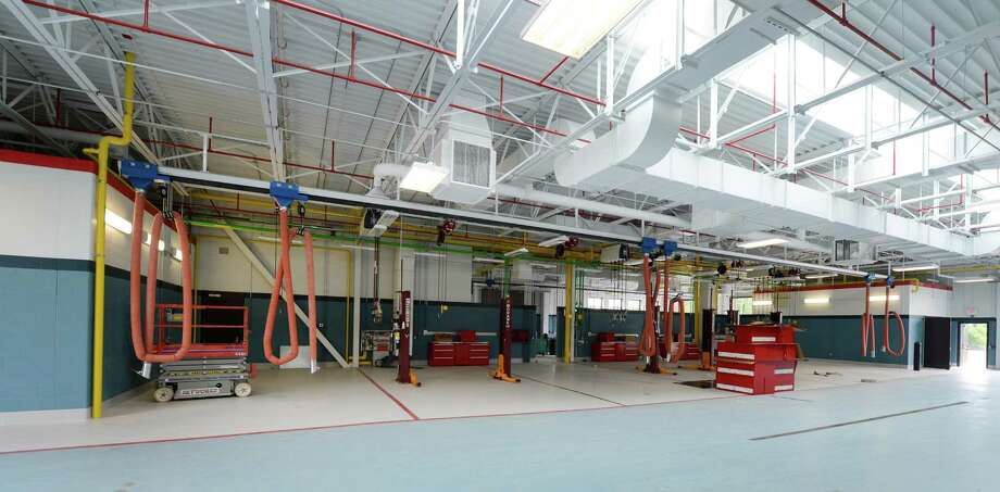 Interior view of the new vehicle maintenance facility on the new Troop G campus in Latham, N.Y.  July 18, 2012.  (Skip Dickstein / Times Union archive) Photo: SKIP DICKSTEIN / 00018404A
