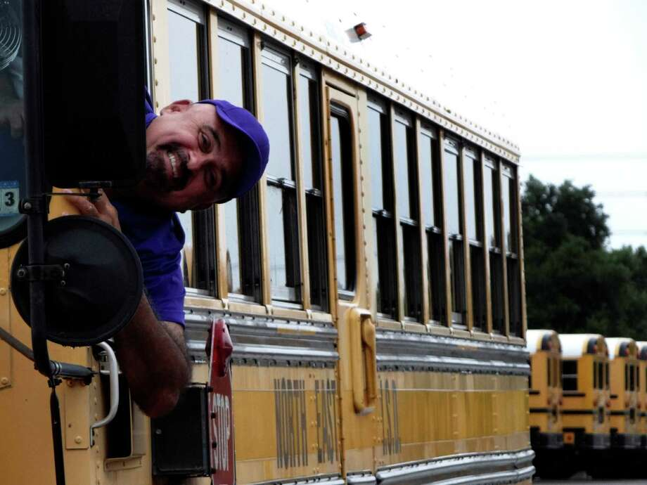 NEISD bus driver Michael Castaneda was just named the best in the nation after coming in second to a Canadian driver in the 42nd Annual School Bus Driver International Safety Competition in Milwaukee, WI. Photo: Billy Calzada, San Antonio Express-News / © 2012 San Antonio Express-News