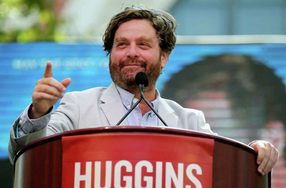 """Cast member Zach Galifianakis speaks at a news conference for """"The Campaign"""" on Tuesday, July 17, 2012, in Los Angeles. The film opens in theaters on August 10. (Photo by Matt Sayles/Invision/AP) Photo: Matt Sayles / Invision"""
