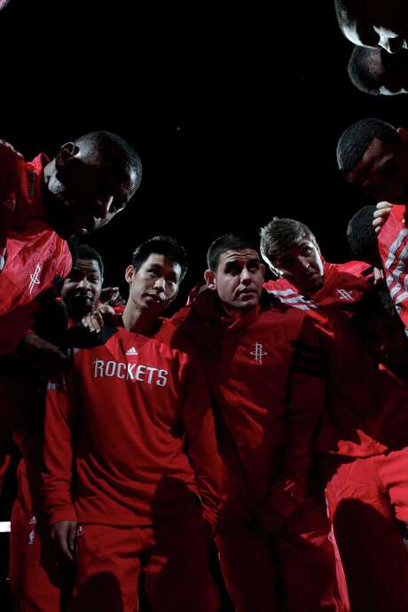 Jeremy Lin already knows what it's like to wear a Rockets uniform, which he did last preseason before he became a victim of the team's crowded backcourt and eventually landed in New York. Photo: Brett Coomer / © 2011 Houston Chronicle