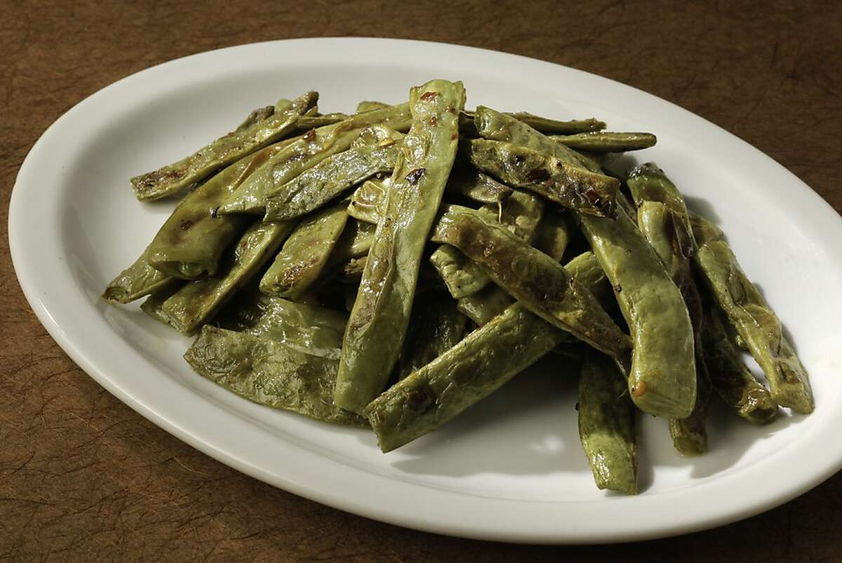 Spicy Lemon-Roasted Romano Beans as seen in San Francisco, California, Wednesday, July 18, 2012. Food styled by Amanda Gold.