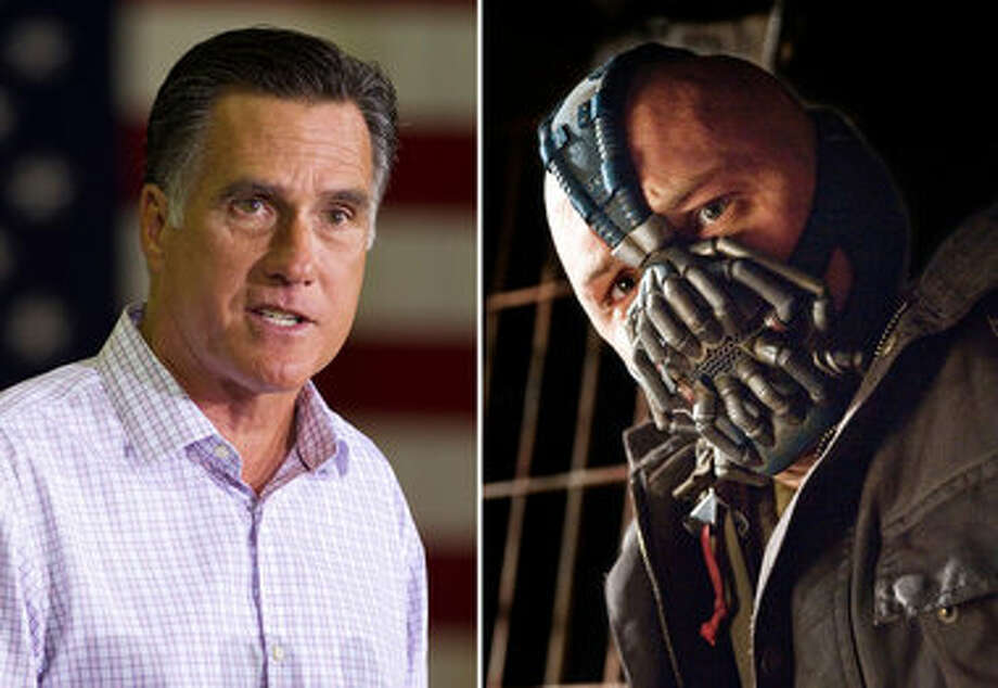 "Best ""Bane"": Tom Hardy as Bane in ""The Dark Knight Rises"" beats out Mitt Romney's Bain Capital."