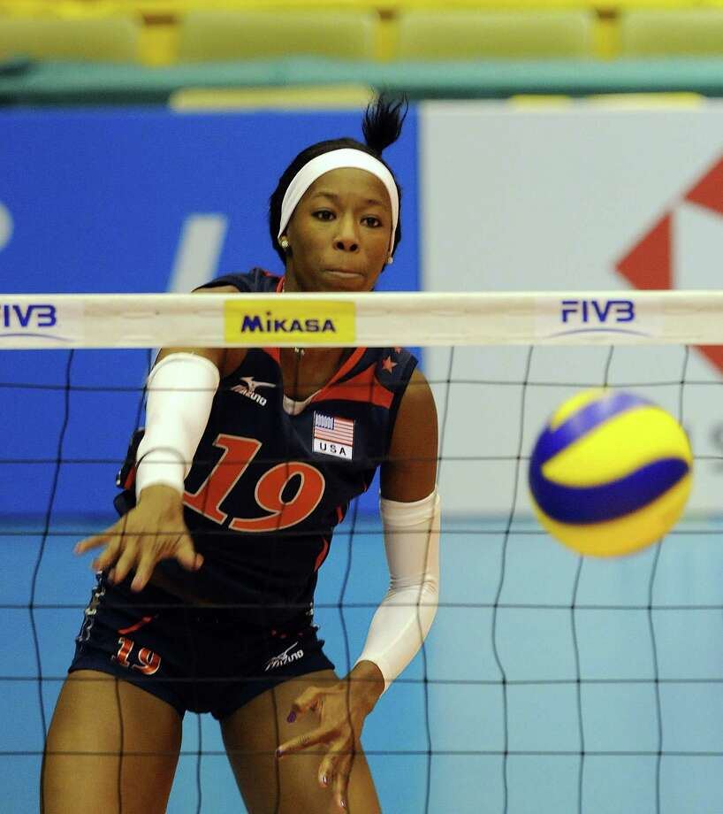 Former Southwest and UT standout Destinee Hooker is one of the top players for Team USA, which is ranked No. 1 in the world and the favorite to claim the gold medal in London. Photo: TOSHIFUMI KITAMURA, AFP/Getty Images / 2010 AFP