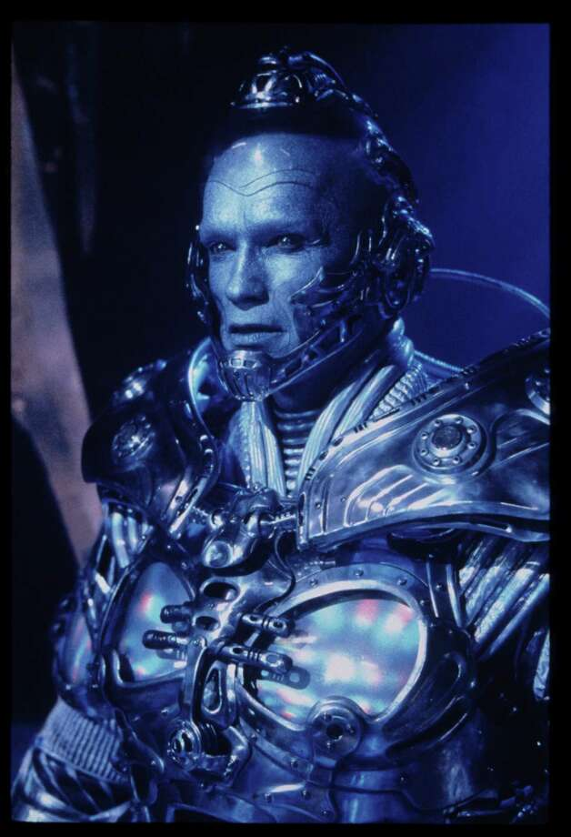 The villain Mr. Freeze played by Arnold Schwarzenegger was also introduced in Batman & Robin. Photo: Christine Loss / handout