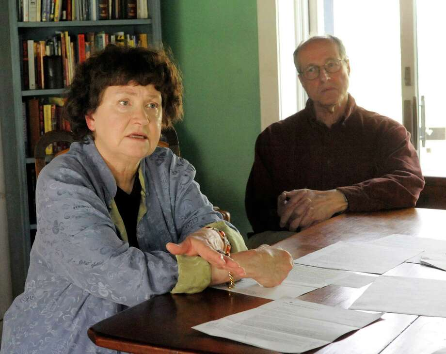 Sue Ellen Bohning, 67, and her husband, Daryl, 70, have complaints about Daryl's care at Danbury Hospital. Photographed in their Warren home Friday, April 20, 2012. Photo: Michael Duffy / The News-Times
