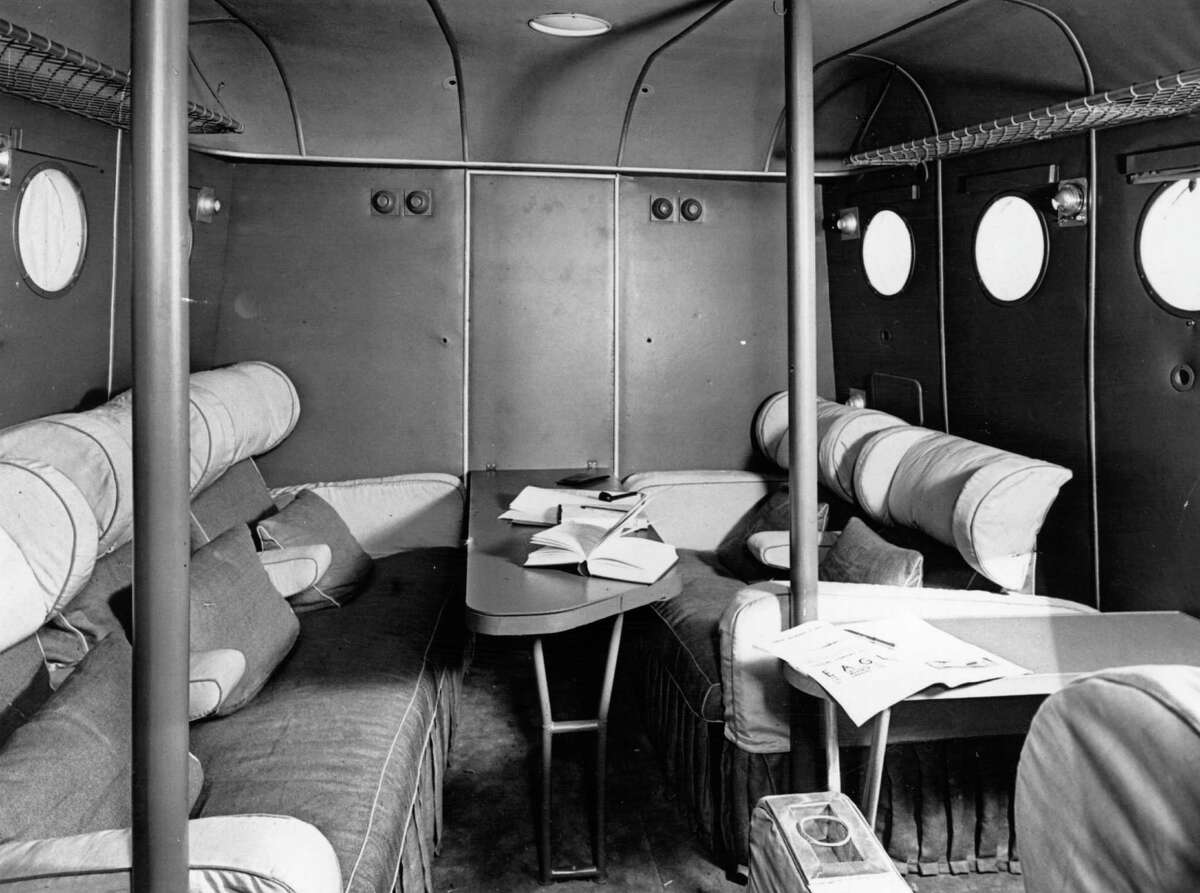 People left all sorts of stuff in the cabin of this Imperial Airways flying boat, shown in August 1936.