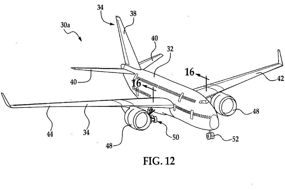 A design for a double-decker airliner is depicted in this image from a Boeing patent application. Photo: The Boeing Co./U.S. Patent And Trademark Office